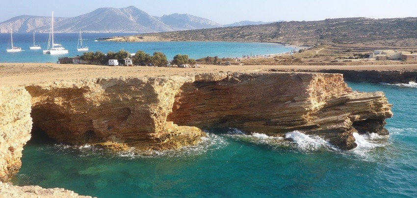 Hiking on the Small Cyclades - wild coastline, crystal waters