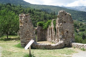 Old Christian Church in Mystras, a wonderful site in Peloponnese highlands