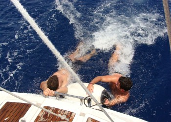 Guys enjoy the Bachelor Party! - Sail in Greek Waters
