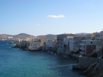 Syros Island with Traditional Buildings