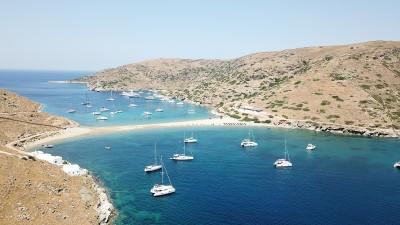 Kythnos Kolona Beach| Sail in Greek Waters