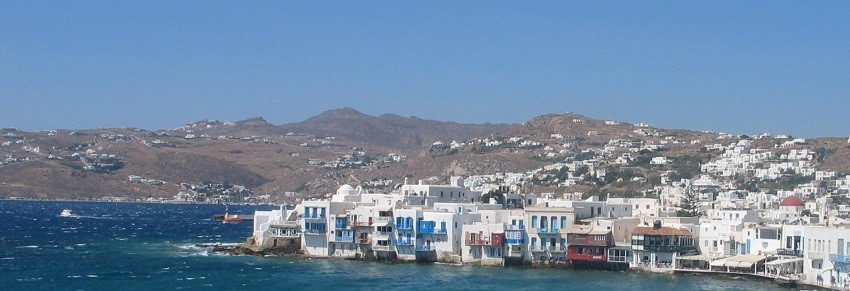 The town of Mykonos within the endless blue - Sail in Greek Waters