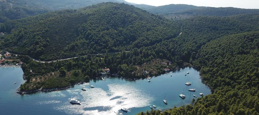 Yachts hidden in harbour | Sail in Greek Waters