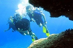 Scuba diving at Greek islands