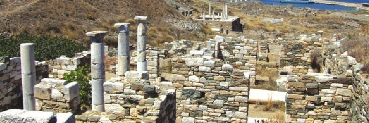 Delos island, cruising around the ancient monuments in Cyclades islands