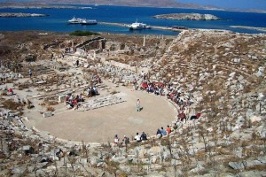 Delos island, at the heart of Cyclades