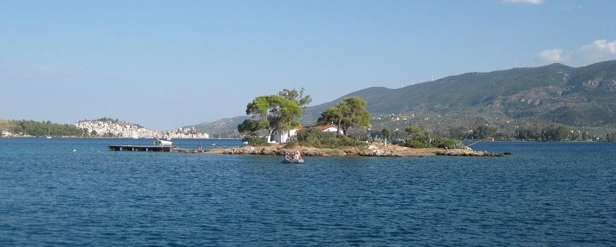 Amazing landscape in Poros strait